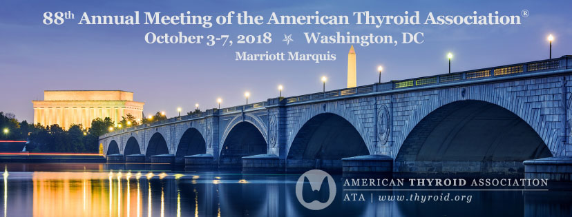 American Thyroid Association Annual Meeting @ D.C. Marriott Marquis  | Washington | District of Columbia | United States