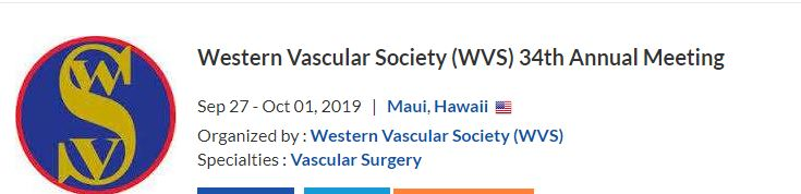 Western Vascular Society 34 Annual Meeting Abstract Submission @ Fairmont Kea Lani, Maui | Wailea-Makena | Hawaii | United States