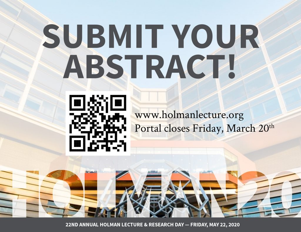 Holman20: Abstract Submission Deadline
