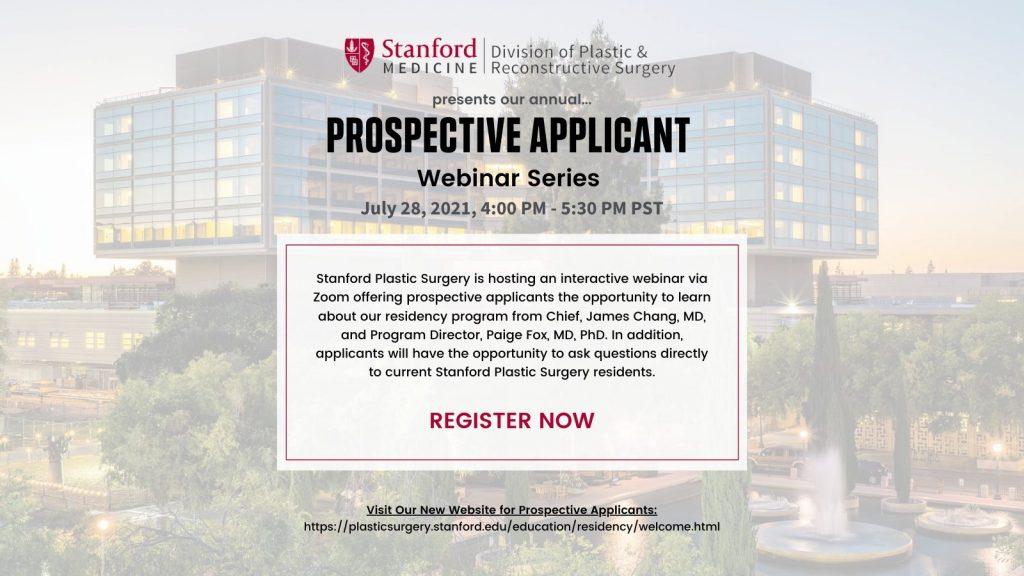 Plastic Surgery Prospective Applicant Webinar